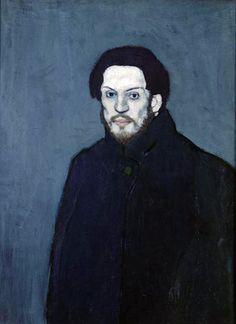 Autorretrato, 1901. Pablo Picasso.