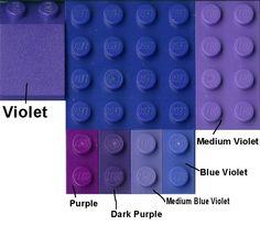Lego Color Guide Purple
