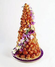 A wedding croquembouche makes a stylish French statement.
