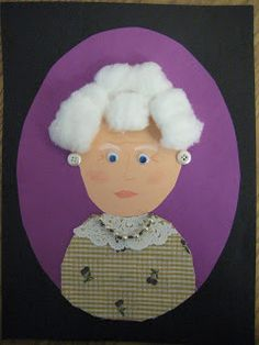 Kids made self portraits of what they would look like when they were 100 Years old!
