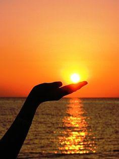 Sonne, Hand, Finger, Licht, Sommer