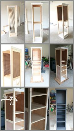 FANTASTIC...swiveling crafty organizer  ...pictures of how it was done  lookie what I did blog