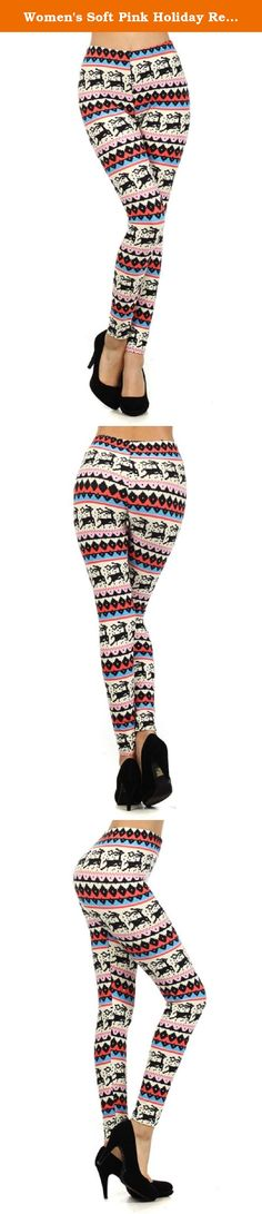 Women's Soft Pink Holiday Reindeer Print Leggings. Our Soft Pink Reindeer Tribal Print Leggings, for the girly holiday-pumped punks out there, are surely fashion fun on every level. Our Soft Pink Reindeer Snowflakes Holiday Tribal Print Leggings are versatile and easy to wear them with a pair of heels for a night uptown or pair them with boots for downtown. Try our Soft Pink Reindeer Holiday Tribal Print Leggings for your fashion wardrobe and add a touch of sassy fun.