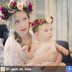 Throwback to last year so absolutely in love with this image and of these little cuties with matching flower crowns   #regram from @i_said_so_kids . Love this pic XO @erinjadecrawfordviola @choniec @jademcintoshflowers #flowercrowns #weddings #weddingday #