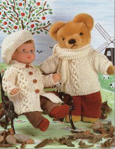 Dolls Knitting Pattern Teddy knitting pattern dolls by Hobohooks