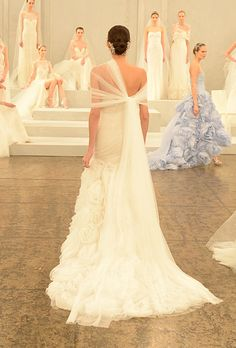 Brides.com: 25 New Wedding Dresses with Statement Backs. Wedding dress by Monique Lhuillier  See more wedding dresses from Monique Lhuillier's Spring 2015 collection.