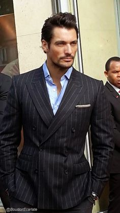 Meet & Greet with David Gandy during the launch of his underwear range for M&S in Paris ~ David James Gandy もっと見る Prom Tuxedo, Tuxedo Suit, Tuxedo For Men, David Gandy Style, David James Gandy, David Gandy Suit, Gentleman Mode, Gentleman Style, Groomsmen Suits