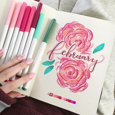 """10 Likes, 1 Comments - Jessie Hinds (@jessieweee) on Instagram: """"Does anyone even say February with the first """"r"""""""" #bulletjournal #bujo"""