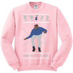 1-800 Hotline Bling ugly Drake Christmas Sweater UNISEX... (£17) ❤ liked on Polyvore featuring tops, sweaters, unisex sweaters, white christmas sweater, going out tops, christmas sweater and unisex tops