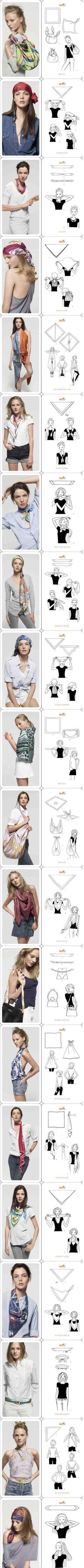 How To Wear Belts - Every single way to use a scarf. Love the first top, and the handbagstrap! - Discover how to make the belt the ideal complement to enhance your figure. Look Fashion, Diy Fashion, Fashion Beauty, Fashion Tips, Fashion Hacks, Fashion Clothes, Mode Style, Style Me, Do It Yourself Fashion