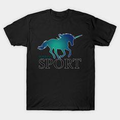 'Unicorn blue' by kriko Long Hoodie, Laptop Sleeves, Chiffon Tops, Classic T Shirts, T Shirts For Women, Mens Tops, Blue, Stuff To Buy