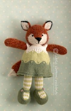 Many great ideas for various knit dolls on this web site
