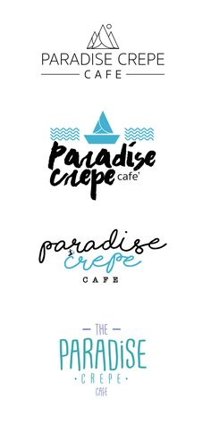 Paradise Crepe cafe   LOGO  Brand  FOOD