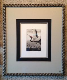 Love this from our friends at Chao Framing in Florida! #art #customframing