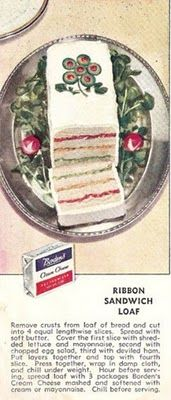"""""""Sandwich loaf""""  guh...  It is no doubt """"frosted"""" with mayonnaise."""