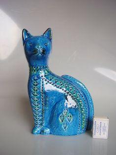 Large-Rimini-blue-cat-figurine-Aldo-Londi-for-Bitossi-Italy-10-6