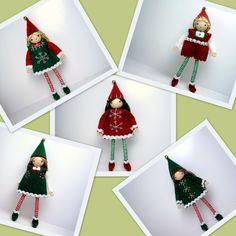 "Large Kindness Elf Bendy Dolls - large size- 6"" tall.  Bendable and posable dolls.  www.PrincessNimbleThimble.com"