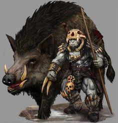 Fab commission completed over Christmas, the orc Rakkvosh and his warthog for Vulric! Rakkvosh and Warthog Fantasy Races, High Fantasy, Fantasy Rpg, Fantasy Artwork, Fantasy Character Design, Character Concept, Character Inspiration, Character Art, Larp