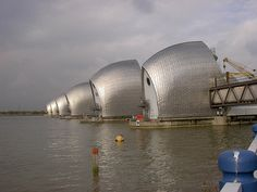 Some very under-appreciated London landmarks.North Greenwich's Thames barrier help stop London flooding.