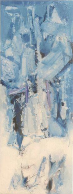 Alberto Boschi - Le stagioni vengono e vanno - Inverno - olio su tela cm 120 × 45 - 2008