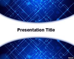 Free Modern Technology PowerPoint template is an abstract technology template for Microsoft PowerPoint presentations with a blue silicon circuit in the background