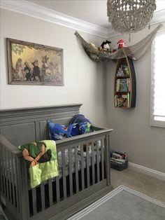 Ideas For Baby Girl Nursery Themes Disney Peter Pan Disney Baby Nurseries, Disney Themed Nursery, Baby Girl Nursery Themes, Baby Boy Rooms, Baby Boy Nurseries, Nursery Ideas, Baby Room, Nursery Boy, Playroom Ideas