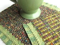 Handwoven Mug Rug / Coaster Set by BooDilly's, via Flickr