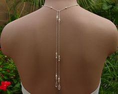 Bridal Lariat Necklace with Swarovski Pearls, Crystals and  Teardrops - Handmade Wedding Jewelry by Handmade by Diana on Etsy. $52.00, via Etsy.