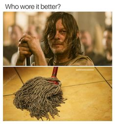 """#twd #thewalkingdead #DAMN The Walking Dead Meme Page (@badfatherrickgrimes) on Instagram: """"Listen, before y'all attack me...I'm not roasting Norman Reedus' hairstyle. Norman's hair is great.…"""""""