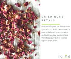 Lovely with lychees in a martini or sprinkle in a simple cucumber salad. #figmintcatering #sydneycaterer #rosepetals #foodinspiration #experimentwithfood