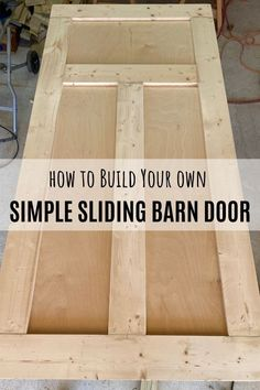Step-by-step instructions on how to build your own sliding barn door. Step-by-step instructions on how to build your own sliding barn door. Diy Wood Projects, Furniture Projects, Home Projects, Diy Furniture, Wood Project Plans, Furniture Repair, Project Ideas, Furniture Design, Craft Ideas