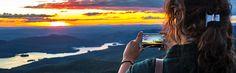 Observation des étoiles filantes au sommet de la montagne - Station Mont Tremblant