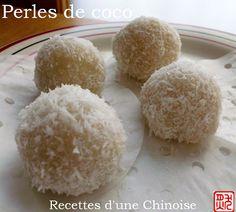Perles de coco / boules de coco 椰蓉糯米糍 yēróng nuòmǐ...