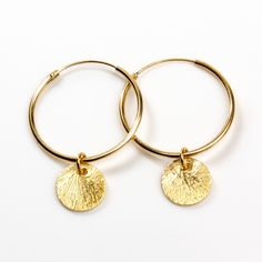 allesausLiebe - #Creole - sterling silber 925 - vergoldet - gold