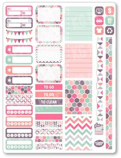 Pastels Functional Kit Planner Stickers