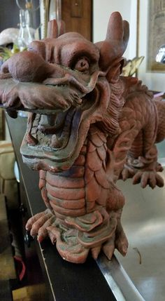 Fabulous red dragon $30 #collingwood this is a great #giftidea Very solid piece too #consignment #homedecor #accents