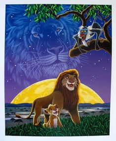 Disney Lion King Limited Edition Serigraph By William Schimmel Kiara Lion King, The Lion King 1994, Lion King Fan Art, Lion King Movie, Lion King Simba, Disney Lion King, The Lion Sleeps Tonight, Disney Kunst, Disney Art