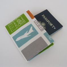 Passport Cover Case Fabric - Commute - Transporation - Airplane via Etsy.