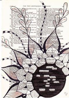 The+Valentine++Original+Art+Found+Poetry+by+nzjo+on+Etsy,+$85.00