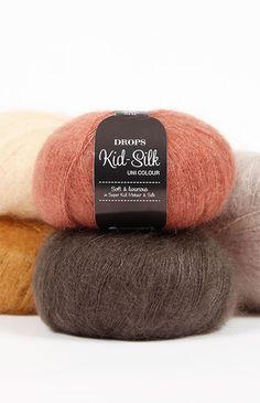 DROPS Kid-Silk - Un misto fantastico di super kid mohair e seta Knitting Wool, Wool Yarn, Hand Knitting, Crochet With Cotton Yarn, Crochet Yarn, Laine Drops, Drops Kid Silk, Garnstudio Drops, Mercerized Cotton Yarn