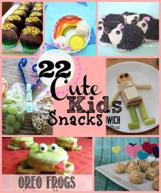 22 Cute Kids Snackshttp://www.dosmallthingswithlove.com/2014/02/22-cute-kids-snacks.html