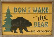 Rustic Lodge Signs with Bear, Moose & Ski Designs