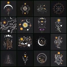 Tattoos Skull, Tribal Tattoos, Star Tattoos, New Tattoos, Phoenix Tattoos, Elephant Tattoos, Witch Aesthetic, Aesthetic Art, Free Spirit Tattoo