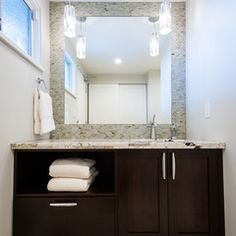 contemporary powder room by Interior Solutions Design Group Inc.
