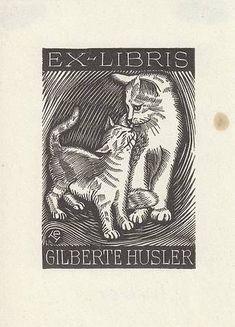 Ex libris by E. Huber