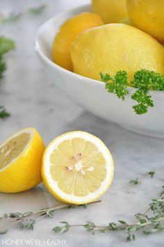 Fresh Lemons Instead of Salt for a Mustard Chicken Recipe.