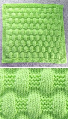 Free Knitting Pattern for Easy Jordan Baby Blanket - This easy blanket is knit with just knit and purl stitches to create a puffy texture. Size is easily customizable. Rated easy by Ravelrers. Designed by marianna mel. Easy Knit Baby Blanket, Free Baby Blanket Patterns, Knitted Baby Blankets, Sweater Knitting Patterns, Baby Patterns, Baby Knitting, Crochet Baby, Free Knitting, Knitting Projects