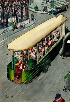 Jean-Jaques Sempè Illustrations 'Comment on S'enruhme…en 12 Images' 1957
