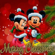 merry xmas one and all disney merry christmas mickey mouse christmas xmas disney - Merry Christmas Mickey Mouse