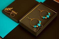 Boho Hoops - Paper Bead Earrings (Antique Bronze) – Naoi